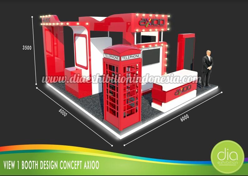 design booth 3d axioo