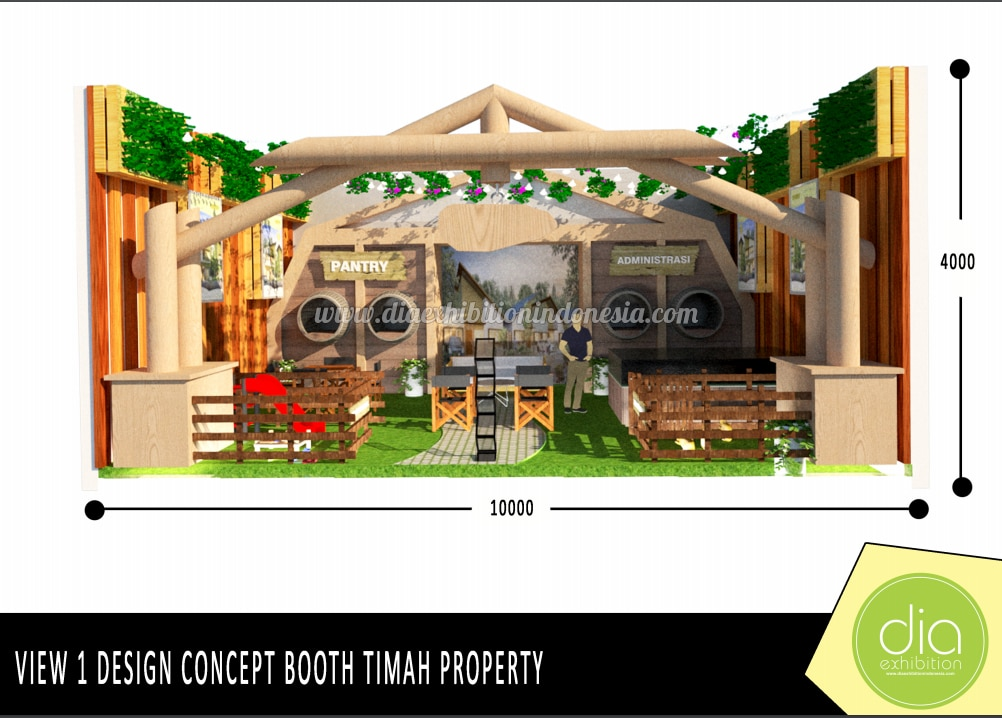 design booth 3d timah property